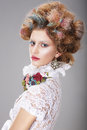 Glamorous Woman With Stylized Fanciful Coiffure Royalty Free Stock Photo - 41937765