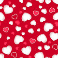 Cute Hearts Seamless Pattern With A Red Background Stock Photo - 41945100