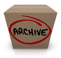 Archive Cardboard Box Record File Storage Packed Up Put Away Stock Images - 41949494