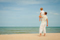 Father And Son Playing At The Beach Royalty Free Stock Images - 41953949