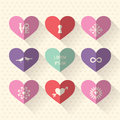 Heart Symbol Icon Set With Love And Wedding Concept Stock Photos - 41956053