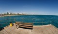 Wooden Bench On The Pier. Stock Images - 41959824
