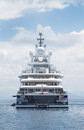 Luxury Large Super Or Mega Motor Yacht In The Blue Sea. Stock Photo - 41970430