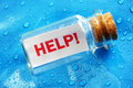 Help Message In A Bottle Royalty Free Stock Image - 41972576