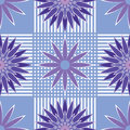 Seamless Pattern Blue And Violet Abstract Flowers Stock Images - 41988214