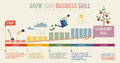 Grow Your Business Skill Infographics Template Royalty Free Stock Image - 41989786