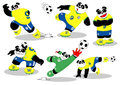 Panda Soccer Brasil All Action2 Royalty Free Stock Images - 41991479