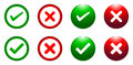 Tick And Cross Buttons Royalty Free Stock Images - 41995519