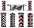 German Army Road Block With Sentry Box Stock Photos - 41999293