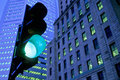 Green Traffic Light Royalty Free Stock Images - 421469