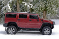 Off Road Hummer H2 In The Snow Royalty Free Stock Images - 4203759