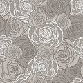 Art Deco Floral Seamless Pattern With Roses. Royalty Free Stock Images - 42004619