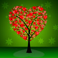 Tree Hearts Indicates Valentine S Day And Forest Royalty Free Stock Photography - 42011557
