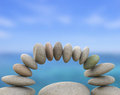 Spa Stones Represents Perfect Balance And Balanced Royalty Free Stock Images - 42011739