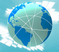 World Travel Indicates Explore Worldly And Tours Royalty Free Stock Images - 42014039