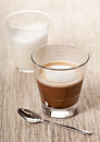 Cortado Coffee Drink In Glass Royalty Free Stock Photography - 42023707