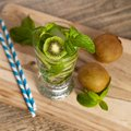 Drink With Kiwi. Selective Focus. Royalty Free Stock Images - 42037249