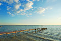 Simple Plank Road On The Lake Royalty Free Stock Photography - 42043557