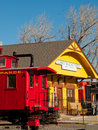Red Caboose Stock Images - 42049794