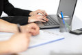 Close-up Of Businesspeople Working Stock Image - 42053341