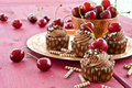 Chocolate Cupcakes With Cherries Royalty Free Stock Images - 42061779