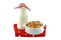 Breakfast Cereals With Dried Fruit And Low Fat Milk Royalty Free Stock Photography - 42069177