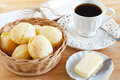 Brazilian Snack Cheese Bread (pao De Queijo) With Cup Of Coffee Royalty Free Stock Photo - 42072555