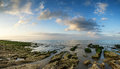 Panorama Landscape Looking Out To Sea With Rocky Coastline And B Royalty Free Stock Images - 42074569