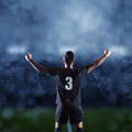 Hispanic Soccer Player Celebrating A Victory Royalty Free Stock Photos - 42088718