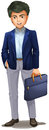 A Businessman Holding A Suitcase Stock Photo - 42088880