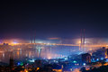Fog Over The City. Stock Image - 42089501