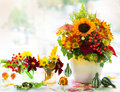 Autumnal Flowers Stock Photography - 42091832