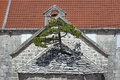 Pine Tree Growing From The Roof Of Church Stock Image - 42094911