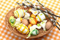 Easter Eggs In A Basket Royalty Free Stock Photo - 4219275