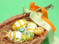 Easter Eggs In A Basket Royalty Free Stock Photography - 4219547