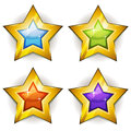Funny Stars Icons For Ui Game Royalty Free Stock Photo - 42109235