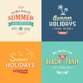 Beach Colorful Labels Set Royalty Free Stock Photo - 42117895