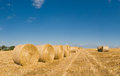 Hay Bales, Idyllic Rural Landscape Stock Photo - 42120210