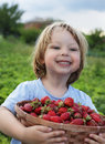 Cheerful Boy With  Basket Stock Images - 42131454