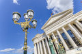 Light Post In Front Of Macedonian Archaeological Museum Stock Images - 42146264