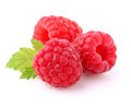 Raspberry With Leaf Royalty Free Stock Photo - 42146275