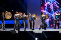 Spirit Drum And Bugle Corps Ensemble Play At Microsoft Convergence Conference Opening Stock Image - 42149311
