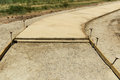 Concrete Walkway Under Construction Royalty Free Stock Photography - 42156157