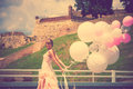 Bride With Balloons Royalty Free Stock Photography - 42169217
