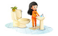 A Cute Little Girl Washing Her Hands Royalty Free Stock Photography - 42175457