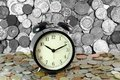 Time Is Money. Retro Clock And Coins. Financial Background. Economic Concept Royalty Free Stock Photo - 42175555