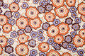 Retro Floral Pattern. Purple And Brown Flowers Print As Background. Royalty Free Stock Photo - 42177345