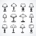 Set Of Table Lamps Stock Photography - 42185712