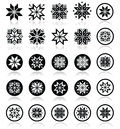 Pixelated Snowflakes, Christmas Icons Stock Images - 42187304
