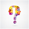 Colorful Question Mark Man Head Symbol. Stock Photography - 42189172